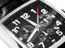 现代钢手表时间概念 免版税库存图片