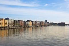 现代阿姆斯特丹的结构 免版税库存图片