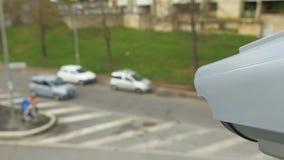 现代面部公认安全监控相机 股票视频
