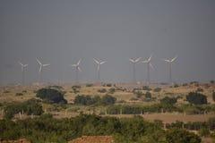 现代风车在Jaisalmer 图库摄影