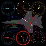 现代飞机的控制板 库存图片