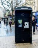 现代黑人英语电话亭 免版税图库摄影