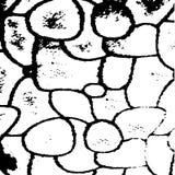 现代黑白抽象石头 免版税库存照片
