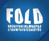 现代3d字体折叠卷毛弯曲了ribbonin作用传染媒介 向量例证