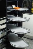 现代02个机柜的厨房 库存图片