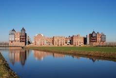 现代2座城堡的haverleij 免版税库存照片