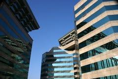 现代bejing的大厦的瓷 免版税库存照片