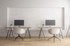 现代coworking的办公室 免版税库存图片