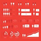 现代Infographic要素 免版税库存照片