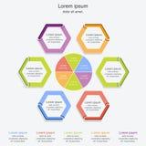 现代infographics过程模板, infographic企业的概念,传染媒介例证 免版税库存图片