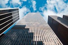 现代nyc摩天大楼 免版税库存图片