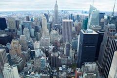现代nyc摩天大楼 免版税库存照片