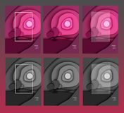 现代papercut紫色的风景 皇族释放例证