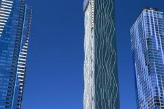 现代Skysrapers,墨尔本,澳大利亚 免版税库存图片