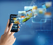 现代smartphone技术 库存照片