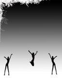 现出轮廓的舞蹈演员性感 库存照片