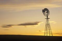 现出轮廓的风车, SD 免版税图库摄影