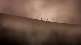 现出轮廓上升的埃特纳火山 库存照片