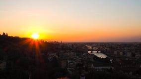 现出轮廓佛罗伦萨全景从piazzale米开朗基罗的 库存照片