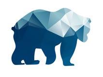 现出轮廓几何形状熊 免版税库存图片