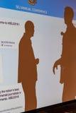 现出轮廓的到会者在2016个SEJ会议萨加门多 免版税库存图片