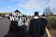 现在大学毕业生的什么灰浆板 免版税库存照片