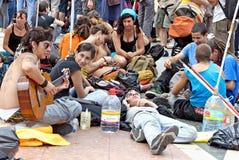 现在巴塞罗那民主实际西班牙 库存照片