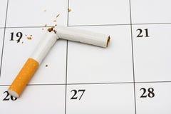 现在离开的抽烟 免版税库存图片