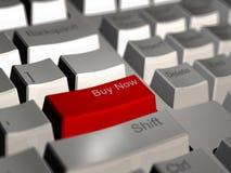 现在采购计算机键盘 免版税库存图片