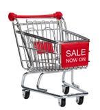 现在销售额在购物车 免版税图库摄影