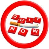 现在离开的抽烟 5月31日世界无烟草日 图库摄影