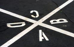现场四正方形 免版税图库摄影