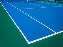 现场困难网球 免版税库存照片