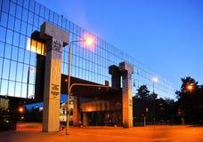 现场国家图书馆华沙 库存图片