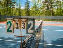 现场室外网球 库存照片