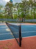 现场室外网球 免版税库存照片