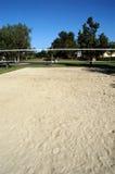 现场沙子排球 库存图片