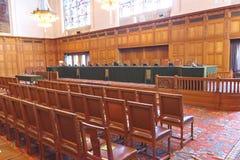 现场法庭icj国际正义 免版税库存照片