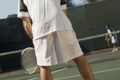 现场球员网球 免版税图库摄影