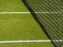 现场草地网球运动 免版税库存照片