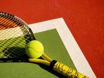 现场详细资料网球 免版税图库摄影