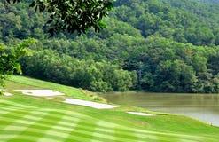 现场高尔夫球零件 免版税库存图片