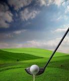 现场高尔夫球 库存图片