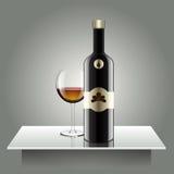 现实传染媒介瓶 玻璃和反射豪华样式与 免版税库存照片