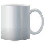 现实传染媒介白色杯子 免版税库存照片