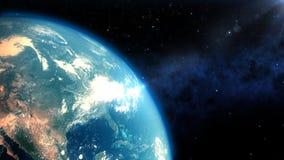 现实地球特写镜头回报 向量例证