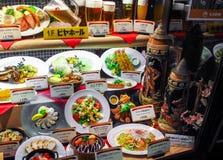现实塑料食物显示在日本 图库摄影