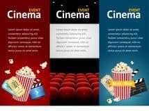 现实戏院电影海报模板 向量 图库摄影