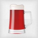 现实杯子用啤酒 库存照片