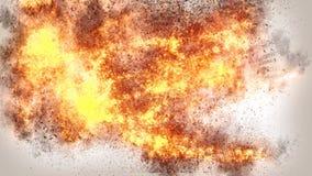 现实火4K背景纹理 免版税库存照片